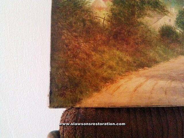 Antique Landscape Oil Painting Restoration