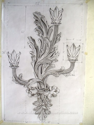 Carverd Sconces Restoration